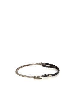 TITLE OF WORK | Sterlingand Leather Bracelet