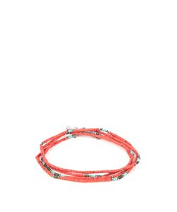 M COHEN | Coral Jade And Sterling Bracelet