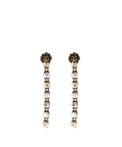 Gucci | Pearl-Effect Embellished Lion Earrings