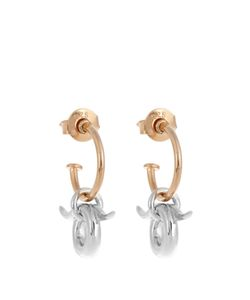 CHARLOTTE CHESNAIS | Mini Horn And Plated Earrings