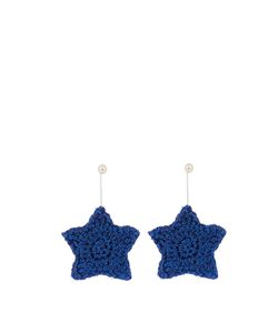 LUCY FOLK | Starry Eyed Crochet-Flower And Pearl Earrings
