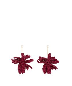 LUCY FOLK | Spritz Crochet-Flower And Pearl Earrings