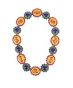 Miu Miu | Flower Crystal-Embellished Necklace