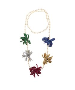 LUCY FOLK | Spritz Crochet-Flower And Pearl Necklace
