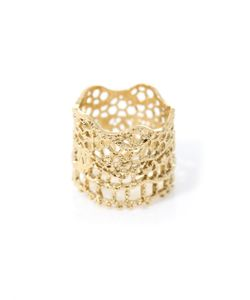 Aurelie Bidermann | -Plated Vintage Lace Ring