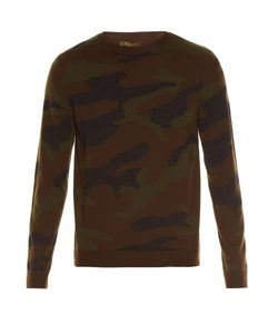 Valentino | Crew-Neck Camouflage-Knit Wool Sweater