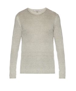 John Varvatos | Crew-Neck Silk And Cashmere-Blend Sweater