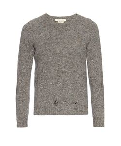 Marc Jacobs | Olympia Distressed Wool And Cashmere-Blend Sweater