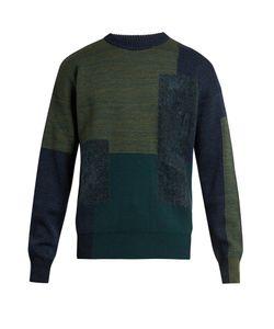 OAMC | Paneled Wool-Blend Crew-Neck Sweater