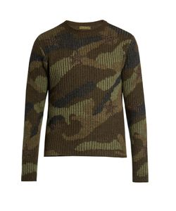 Valentino | Camouflage-Print Wool Sweater