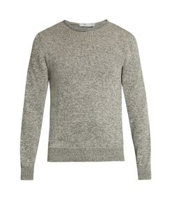 INIS MEÁIN | Rolled-Edge Alpaca And Silk-Blend Sweater