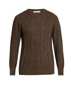 INIS MEÁIN | Aran-Knit Alpaca And Silk-Blend Sweater