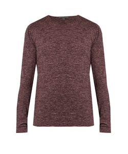 John Varvatos | Wool And Linen-Blend Jersey Top