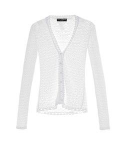 Dolce & Gabbana | Lace-Knit V-Neck Cardigan