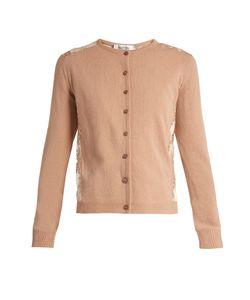 Valentino | Lace-Panel Wool And Cashmere-Blend Cardigan