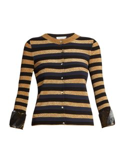 Sonia Rykiel | Sequin-Embellished Striped-Knit Cardigan