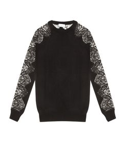 RAEY | Lace Sleeves Cashmere Sweater