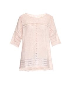 Velvet by Graham & Spencer | Clara Short-Sleeved Cashmere-Knit Sweater