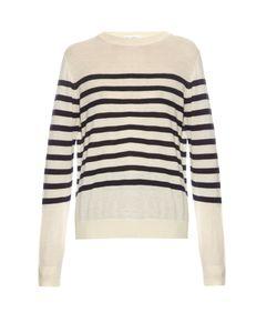 RAEY | Breton-Stripe Fine-Knit Cashmere Sweater