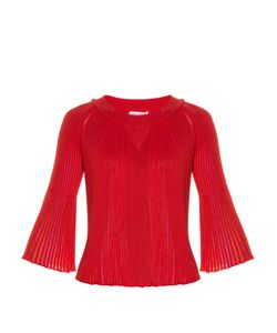 Sonia Rykiel | Multicolou-Insert Pleated Sweater