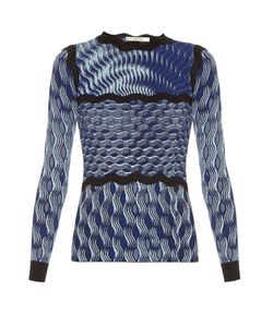 Mary Katrantzou | Rosalba Long-Sleeved Knitted Top