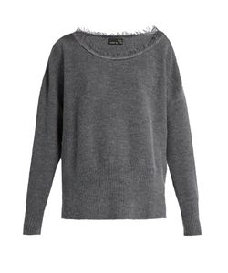 Y'S BY YOHJI YAMAMOTO | Long-Sleeved Raw-Edged Wool-Blend Sweater