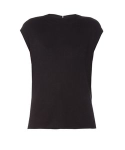 Balenciaga | Draped-Back Silk-Knit Top