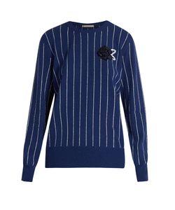 Christopher Kane | Sequin-Embellished Striped Sweater