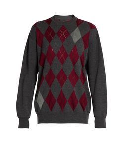 Alexander Wang | Argyle Intarsia-Knit Sweater