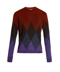 Marco De Vincenzo | Diamond-Intarsia Crew-Neck Sweater