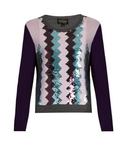 Giambattista Valli | Sequin-Embellished Round-Neck Cashmere Sweater