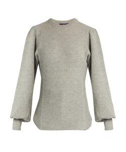 Y'S BY YOHJI YAMAMOTO   Bishop-Sleeved Wool Sweater