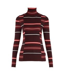 Moncler | Roll-Neck Striped Ribbed-Knit Wool Sweater