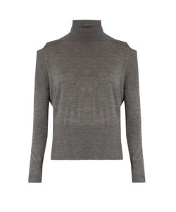 Vince | Cut-Out Shoulder Roll-Neck Wool Sweater