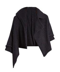 Y'S BY YOHJI YAMAMOTO   Asymmetric Cropped Wool Cardigan