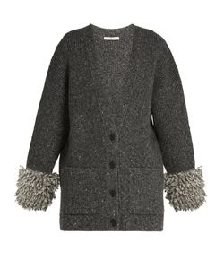 Christopher Kane | Looped-Knit Cuff Ribbed-Knit Cardigan