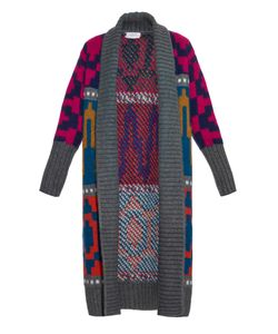 Tak.ori | Long Intarsia-Knit Cardigan