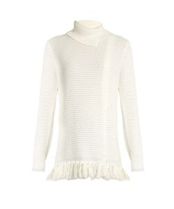 Proenza Schouler | Fringed-Hem Knit Sweater