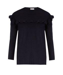Red Valentino | Ruffled Wool-Felt Sweater