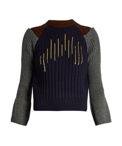 Kolor | Flared-Cuff Sequin-Embellished Wool Sweater