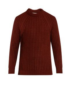GIEVES & HAWKES | Crew-Neck Cashmere Ribbed-Knit Sweater