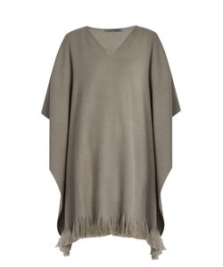 Denis Colomb   Classic Fringed Cashmere Poncho