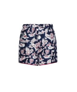 Piamita | Bettie Mermaid-Print Silk Shorts
