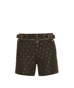 Chloe | Diamond-Jacquard High-Waisted Shorts
