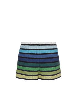 Sonia Rykiel | Striped Cotton-Blend Tweed Shorts