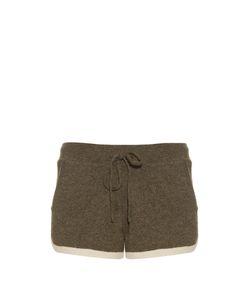 PEPPER & MAYNE | Contrast-Trimmed Cashmere-Knit Shorts