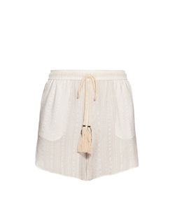 ZEUS + DIONE   Paxi Stripe-Jacquard Silk Shorts