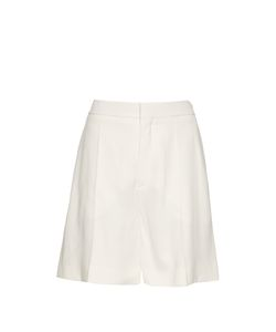 Chloe | Wide-Leg Tailored Cady Shorts