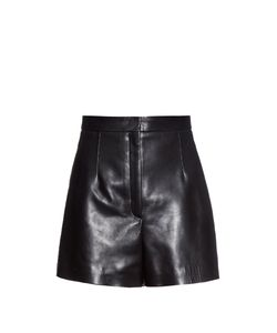 Balenciaga | High-Waist Leather Shorts