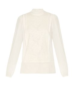 Dolce & Gabbana | Lace And Silk-Blend Blouse